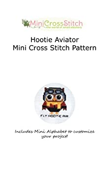 Hootie Aviator Mini Cross Stitch Pattern by [Stitch, Pinoy]