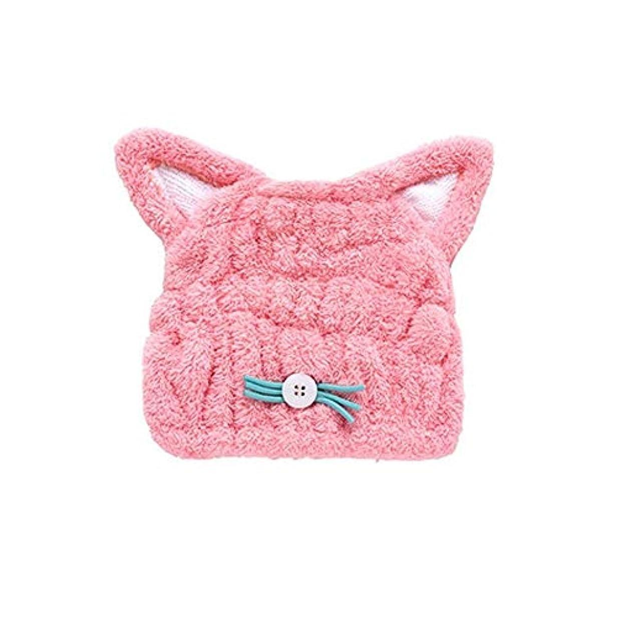 貫入迷信同性愛者JJESC シャワーキャップ、女性豪華なシャワーキャップのすべての髪の長さや太さ、再利用可能なシャワーのに適したキュートなドライシャワーキャップブルーピンク。 (Color : Pink)