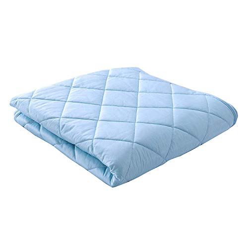 敷パッド キング 接触冷感 シーツ ひんやり リバーシブル 涼感 抗菌防臭加工 吸水速乾 熱帯夜対策 丸洗い可 180×200cm ブルー