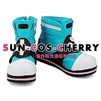 【サイズ選択可】コスプレ靴 ブーツ K-2519 バーチャルYouTuber キズナアイ スーパーAI アイちゃん 女性22CM