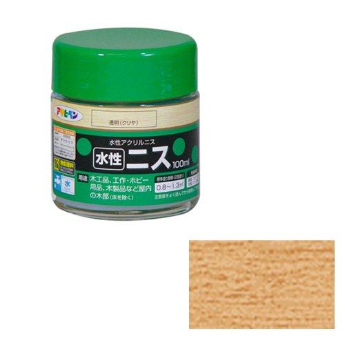 アサヒペン 水性ニス 100ML 透明(クリヤ) 9010430
