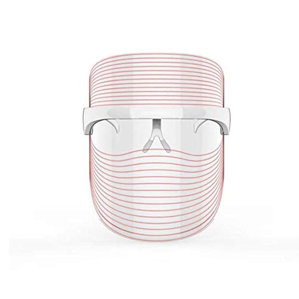 墓ヒギンズまともな3色LEDマスクフェイス&ネックネオン白熱LEDフェイスマスク電動フェイシャルスキンケアフェイススキンビューティー