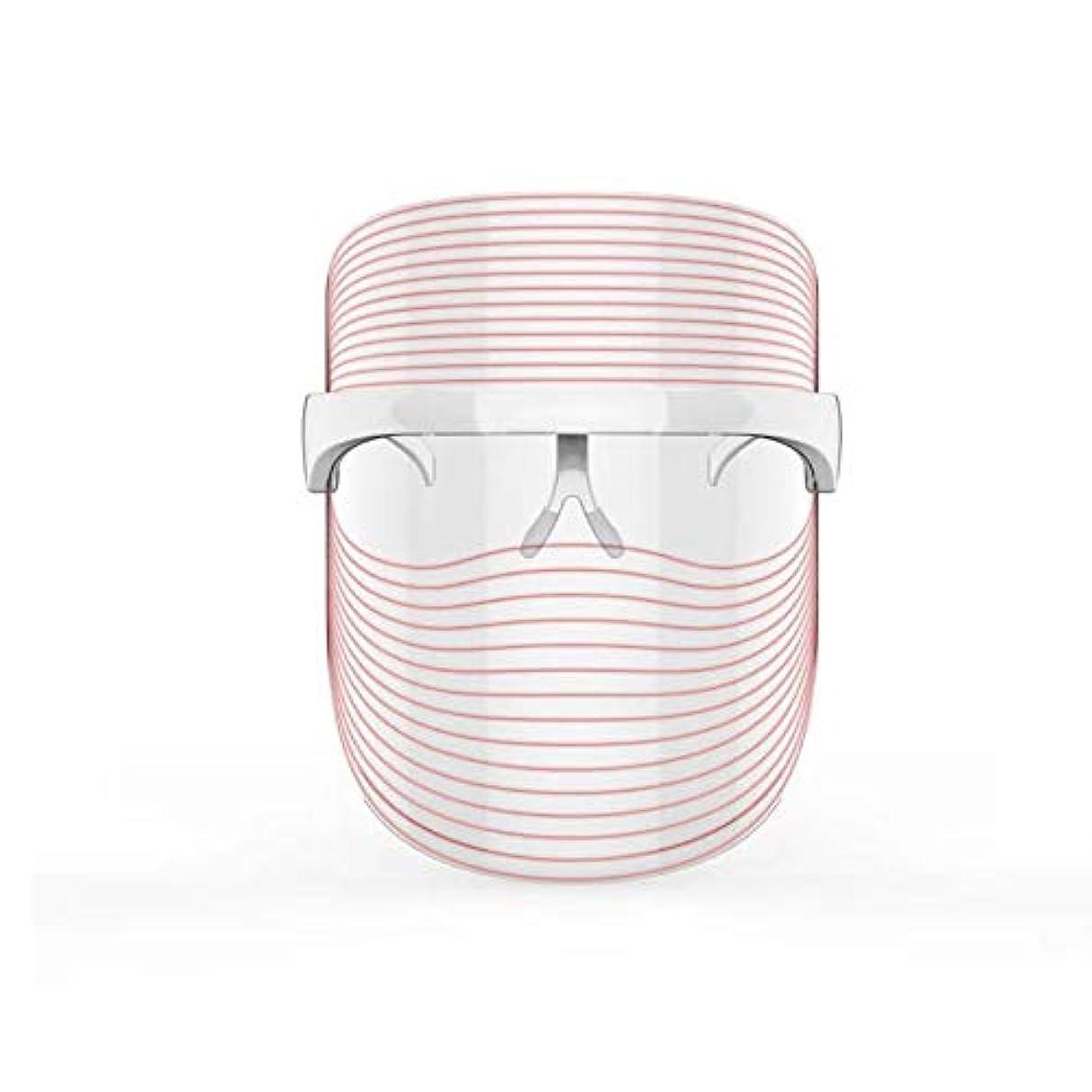 終了するれる特に3色LEDマスクフェイス&ネックネオン白熱LEDフェイスマスク電動フェイシャルスキンケアフェイススキンビューティー