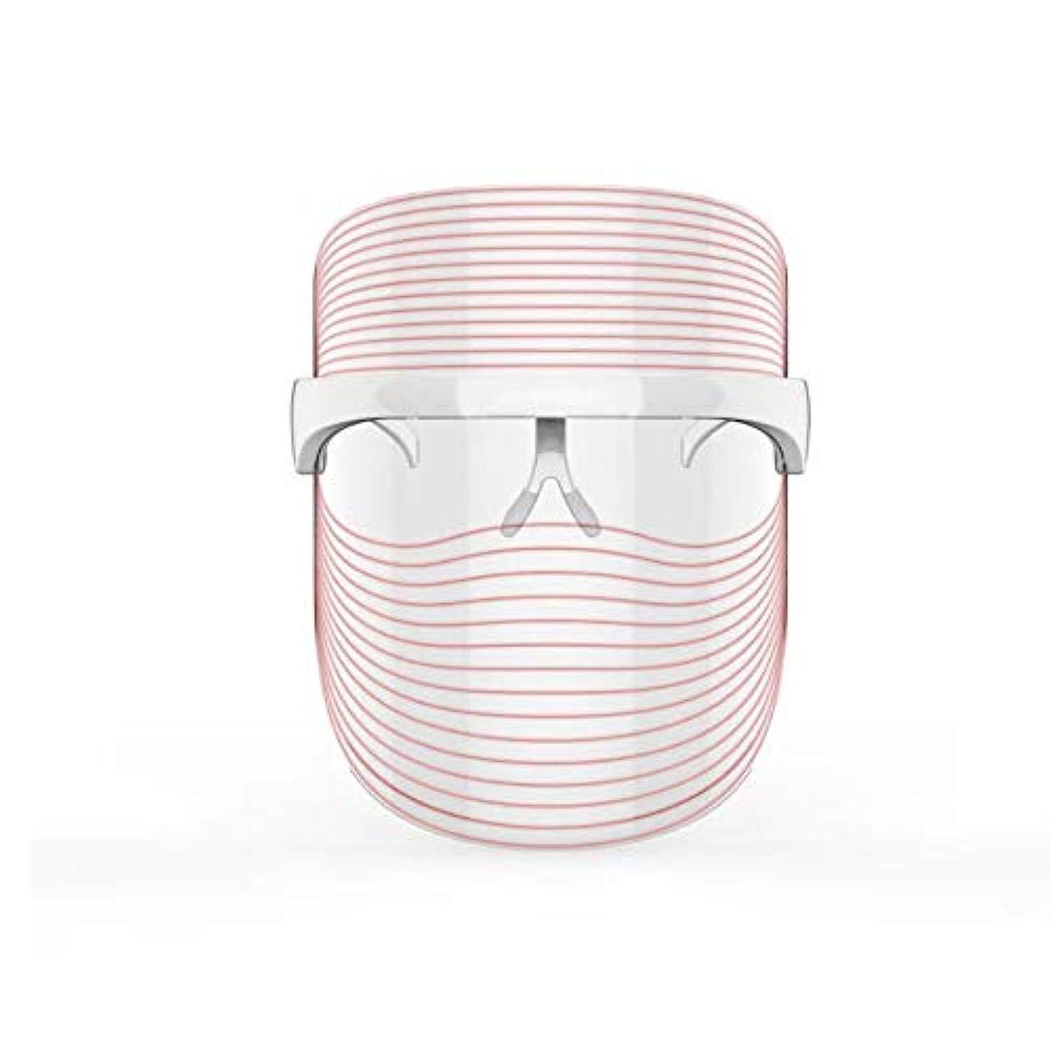 大佐範囲腸3色LEDマスクフェイス&ネックネオン白熱LEDフェイスマスク電動フェイシャルスキンケアフェイススキンビューティー