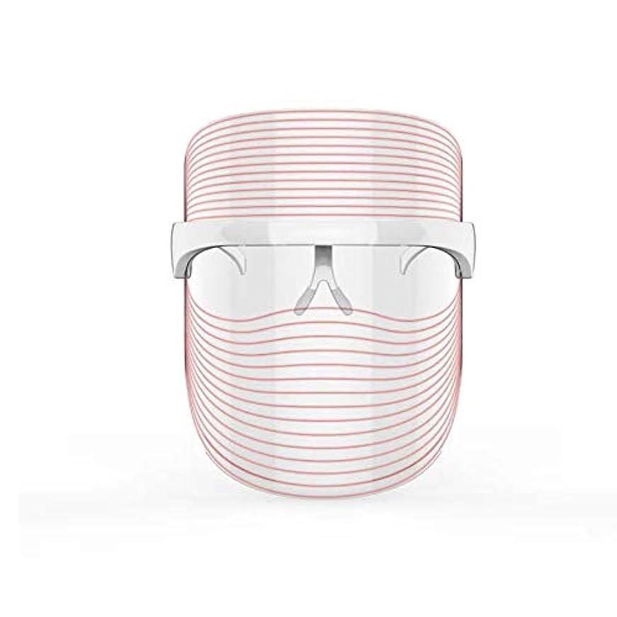 大通り偏心永久3色LEDマスクフェイス&ネックネオン白熱LEDフェイスマスク電動フェイシャルスキンケアフェイススキンビューティー