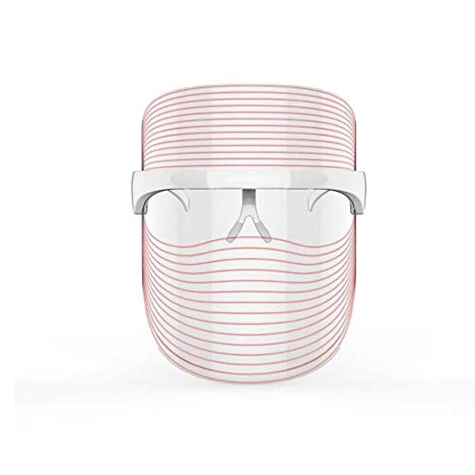 心配する地域の粘性の3色LEDマスクフェイス&ネックネオン白熱LEDフェイスマスク電動フェイシャルスキンケアフェイススキンビューティー