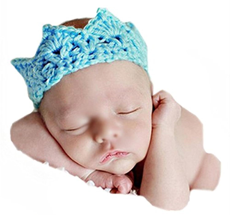 JySキュート新生児幼児ベビー手作りかぎ針編みニットクラウン伸縮性ヘアバンド