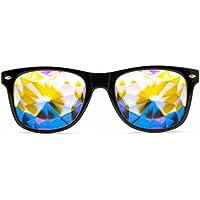 GloFX Ultimate Kaleidoscope Glasses - Rainbow Edm Rave Light Diffraction Festival Eyewear Edge Cut