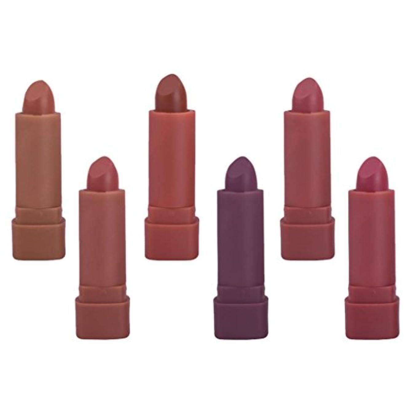 エゴマニアごめんなさい近所のリップ スティック キット ミニマット 口紅セット 長持ち色 化粧品 メイク 6色セット