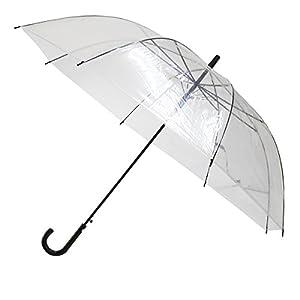 TANPOPO 特大 透明 ビニールジャンプ傘 70cm/黒ハンドル 52251