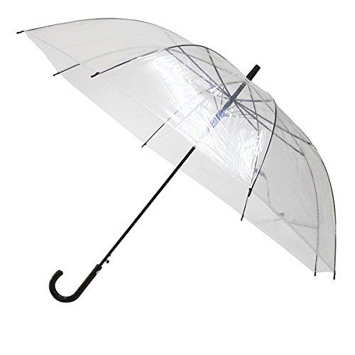 [해외]TANPOPO 대형 투명 비닐 점프 우산 70cm | 블랙 핸들 52251/TANPOPO oversized transparent vinyl jump umbrella 70 cm | black handle 52251