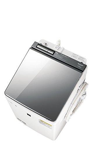 RoomClip商品情報 - シャープ SHARP (超音波ウォッシャー搭載) タテ型洗濯乾燥機 ハーフミラーガラストップ ダイヤカット穴なし槽 シルバー系 ES-PU11C-S