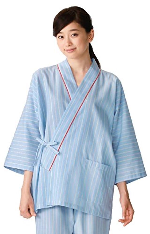 薬局ばかサービス白衣 検診衣 患者衣 カゼン(KAZEN) 285-98 患者衣(甚平型) 医療 :S~3L