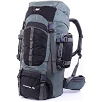 Mooedcoe Mens Womens Large Capacity 75L Hiking Backpacks Outdoor Camping Traveling Trekking Pack Backpack with Internal Frame and Rain Cover