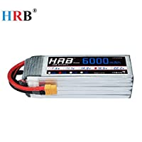 HRB Lipoバッテリー5S 18.5V 6000mAh 50-100C RCクアドコプター飛行機FPVドローン (XT60 プラグ)