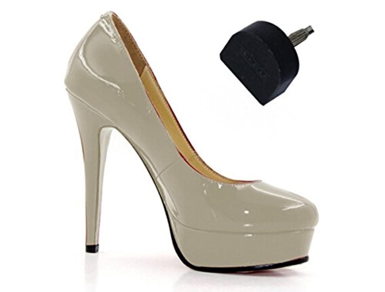 1ペア ヒール修理用 レディース 靴ヒール修理用釘 靴ハイヒール ミュールブーツ靴修理用釘 トップリフト 滑り止め 婦人ヒール用 靴屋用 取り替え 靴底修理キット (14*14mm)