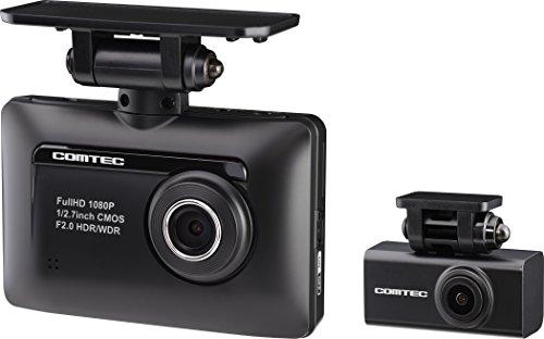 コムテック 前後2カメラ ドライブレコーダー ZDR-015  高画質前後200万画素 Full HD microSDHCカード(16GB)付 ノイズ対策済 GPS/安全運転支援機能搭載 常時/衝撃録画 高速起動 1年保証 ZDR015