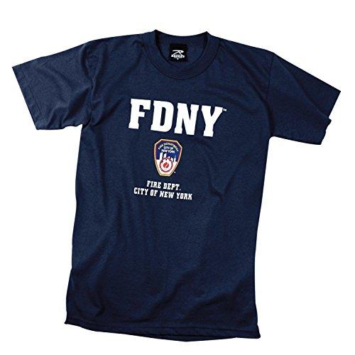 ロスコ FDNY Tシャツ (S, ネイビー)