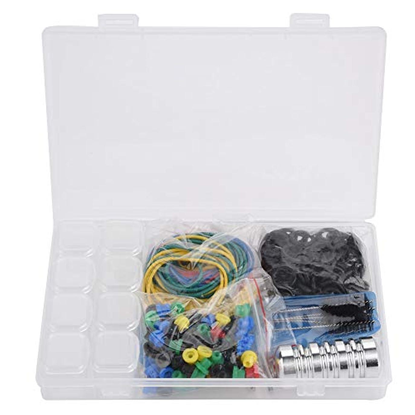 生じる計算する警告するタトゥーマシンアクセサリー、ゴムバンド タトゥー針などが豊富で、収納ボックス付き