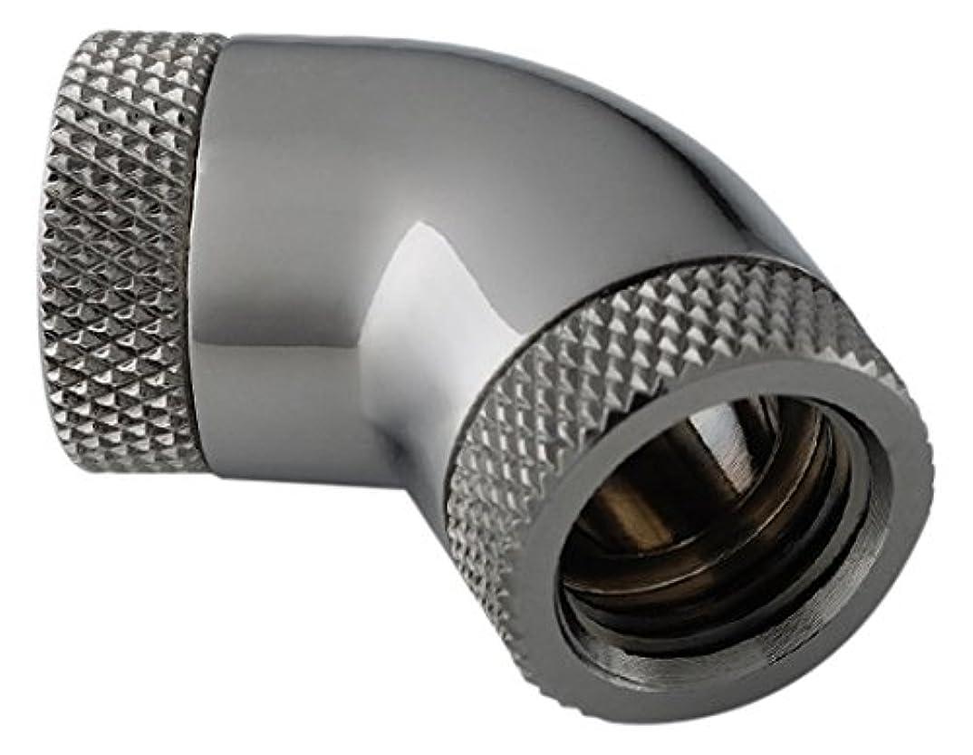 アラームピーク物足りないBitspower インナーG1/4インチスレッド用 デュアル ロータリー(360度回転) 60度角 エクステンダー スパークルブラック