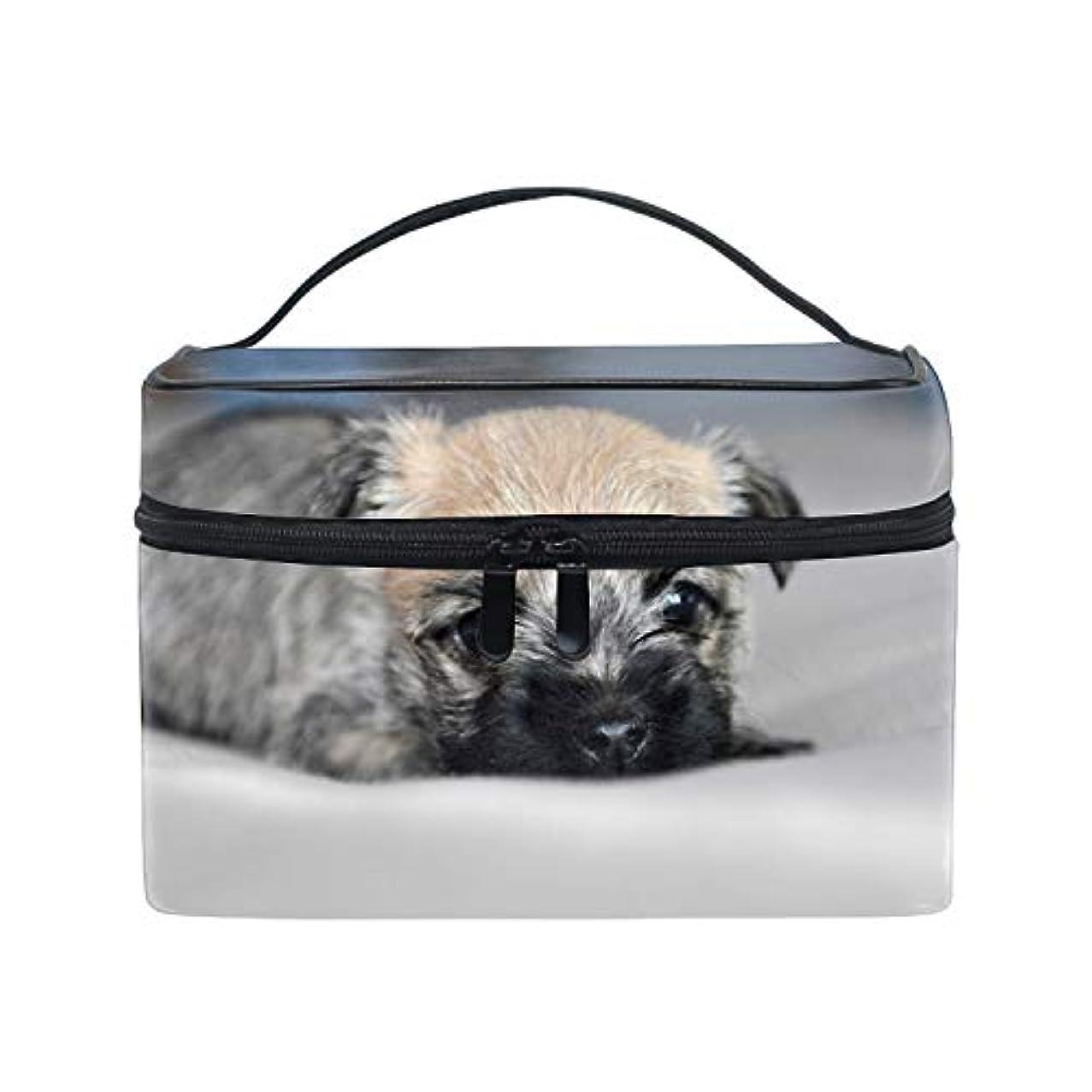 調整夜請願者ケアンテリア小型子犬犬スコットランドコスメ 化粧 ポーチ レディース 大容量 コンパクト 中身が見やすい 防水 シンプル 小物入れ 旅行
