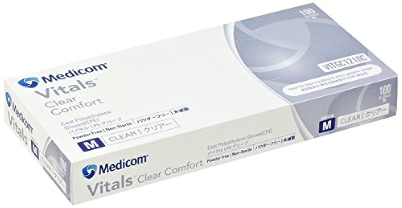 一部悪性腫瘍しっかりVITGC1210Cバイタル CPEグローブ クリアー 100枚入Mサイズ×10箱