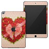 igsticker iPad mini 4 (2015) 5 (2019) 専用 全面スキンシール apple アップル アイパッド 第4世代 第5世代 A1538 A1550 A2124 A2126 A2133 シール フル ステッカー 保護シール 005646 ラブリー フラワー ハート リボン 花