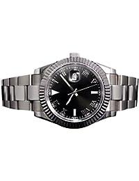 Whatswatch Parnis 40 mm SterileダイヤルDatejustモデル自動メンズ腕時計 PA-0037