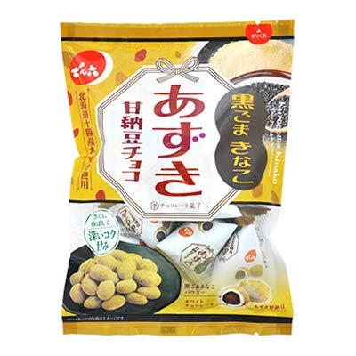 でん六 66gあずき甘納豆チョコ(黒ごまきなこ) 66g ×12袋