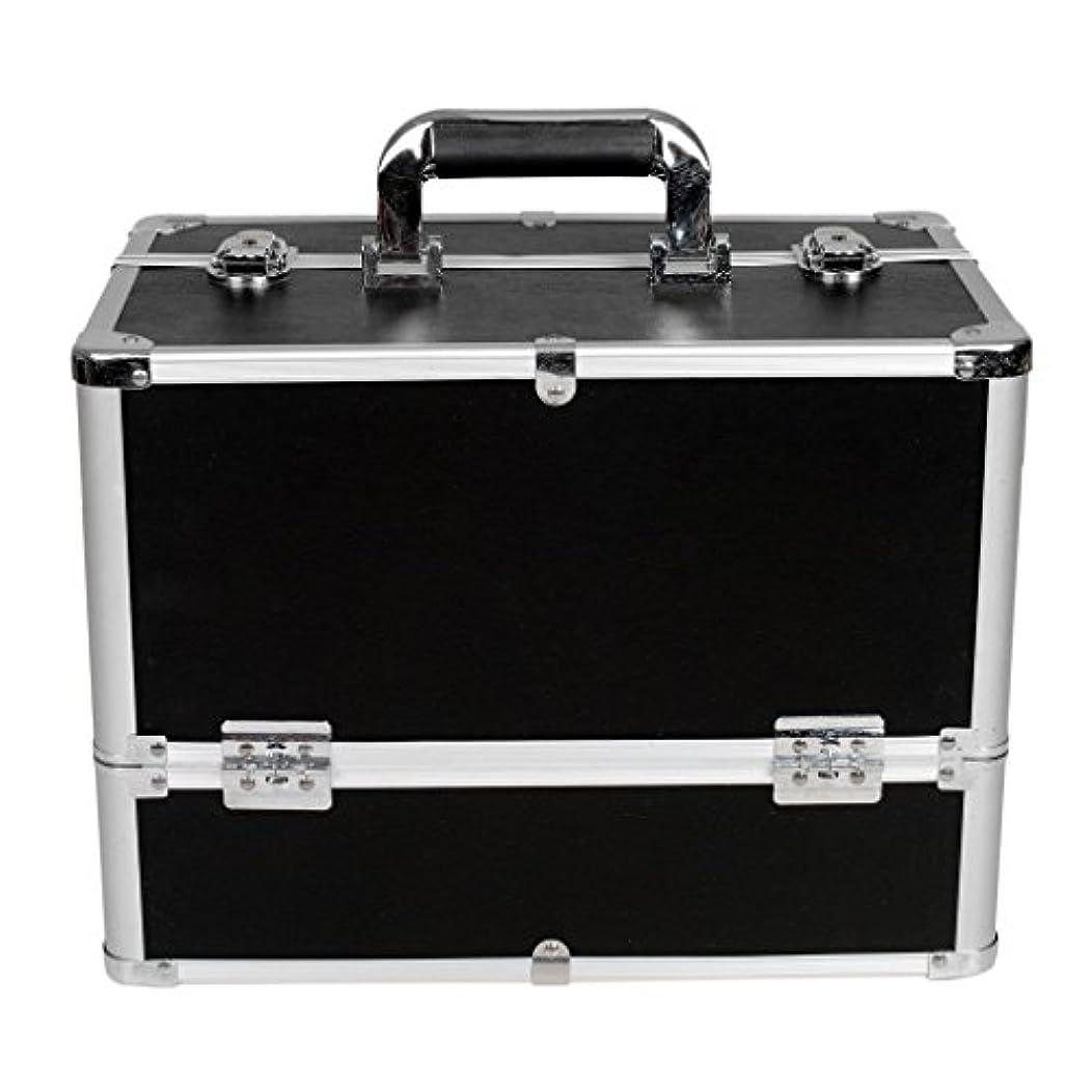 精査するコントローラハック[プロ仕様]Hapilife メイクボックス 大容量 6つトレイ 幅37cm ネイル ジュエリー ドライヤー アクセサリー シューケア用品 収納ケース ブラック