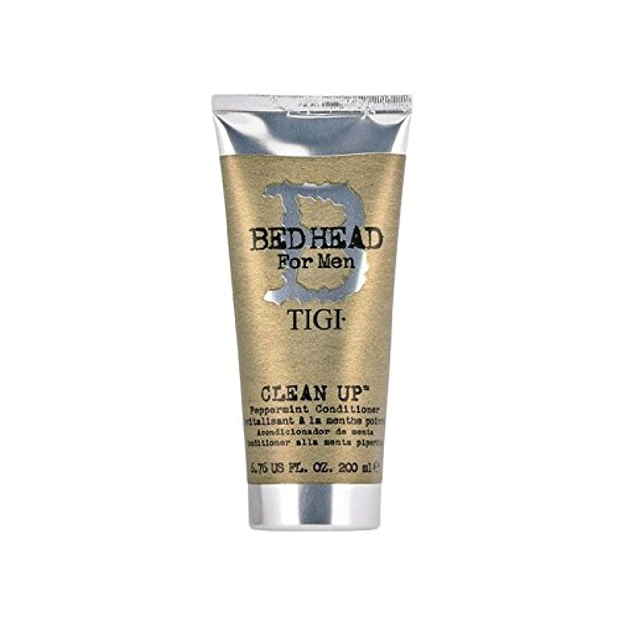 圧力指紋事ペパーミントコンディショナーをクリーンアップする男性のためのティジーベッドヘッド(200ミリリットル) x2 - Tigi Bed Head For Men Clean Up Peppermint Conditioner...