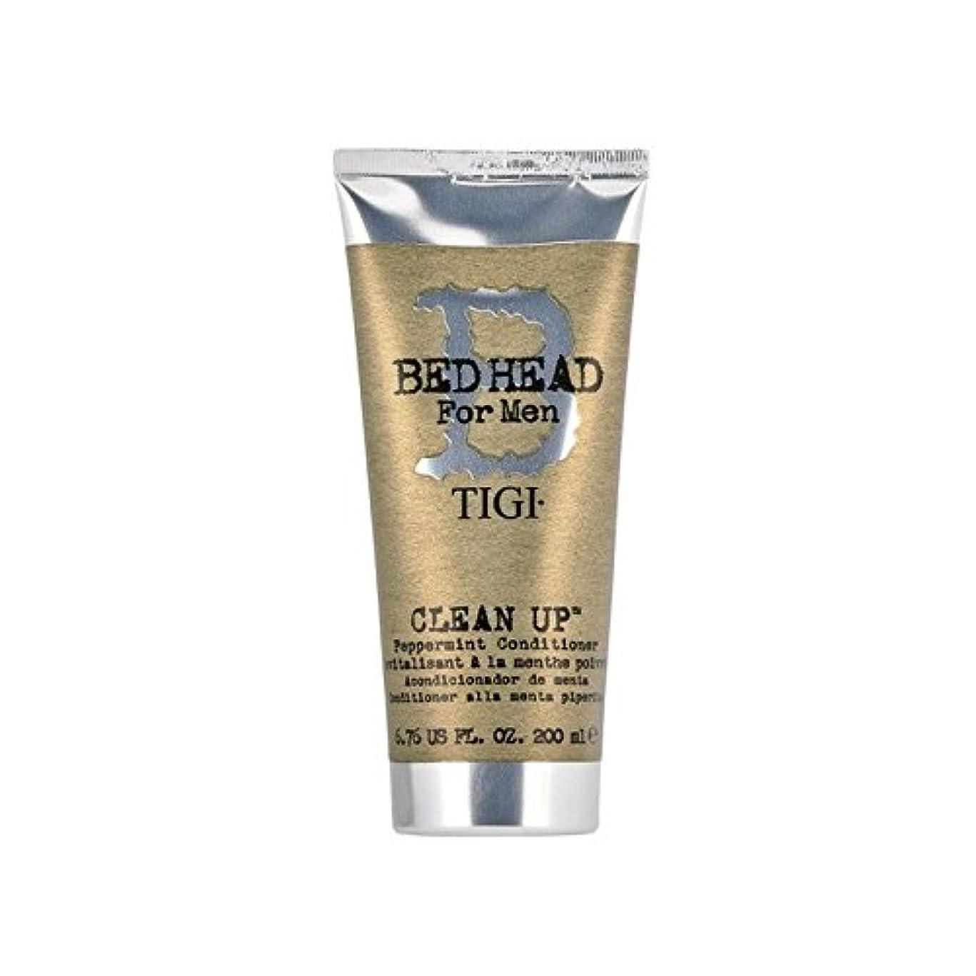 不明瞭家禽時系列ペパーミントコンディショナーをクリーンアップする男性のためのティジーベッドヘッド(200ミリリットル) x4 - Tigi Bed Head For Men Clean Up Peppermint Conditioner...