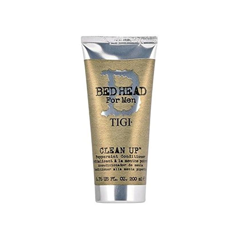 ランクまばたきインチペパーミントコンディショナーをクリーンアップする男性のためのティジーベッドヘッド(200ミリリットル) x4 - Tigi Bed Head For Men Clean Up Peppermint Conditioner...