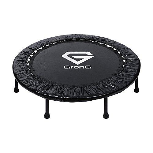 GronG(グロング) トランポリン 家庭用 子供用 大人用 静音設計 耐荷重100kg 直径100cm ブラック