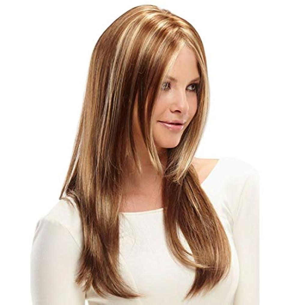 優先変装無駄にKerwinner 女性のための合成かつら自然に見える長い波状別れ耐熱交換かつら