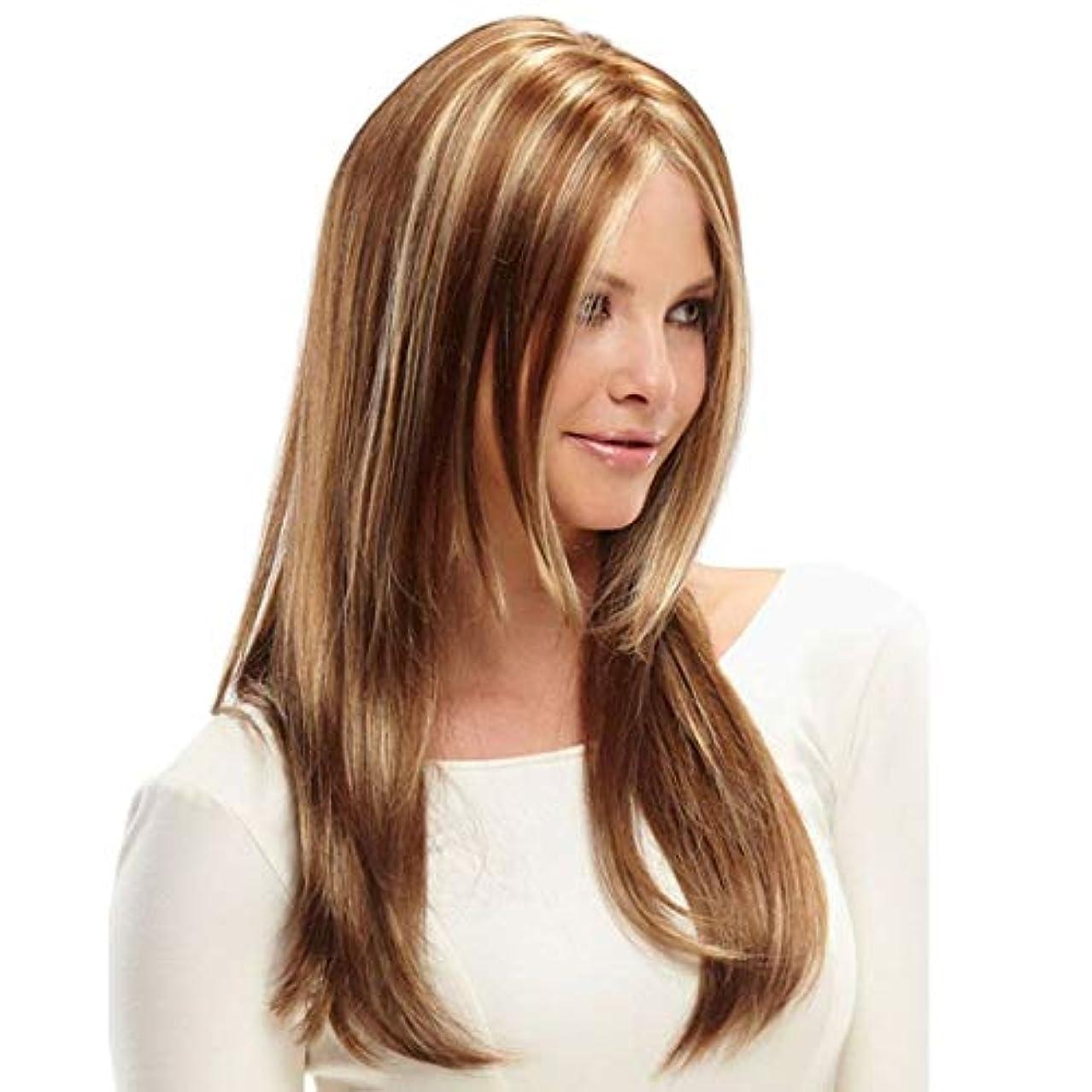 追い越す液体しおれたKerwinner 女性のための合成かつら自然に見える長い波状別れ耐熱交換かつら