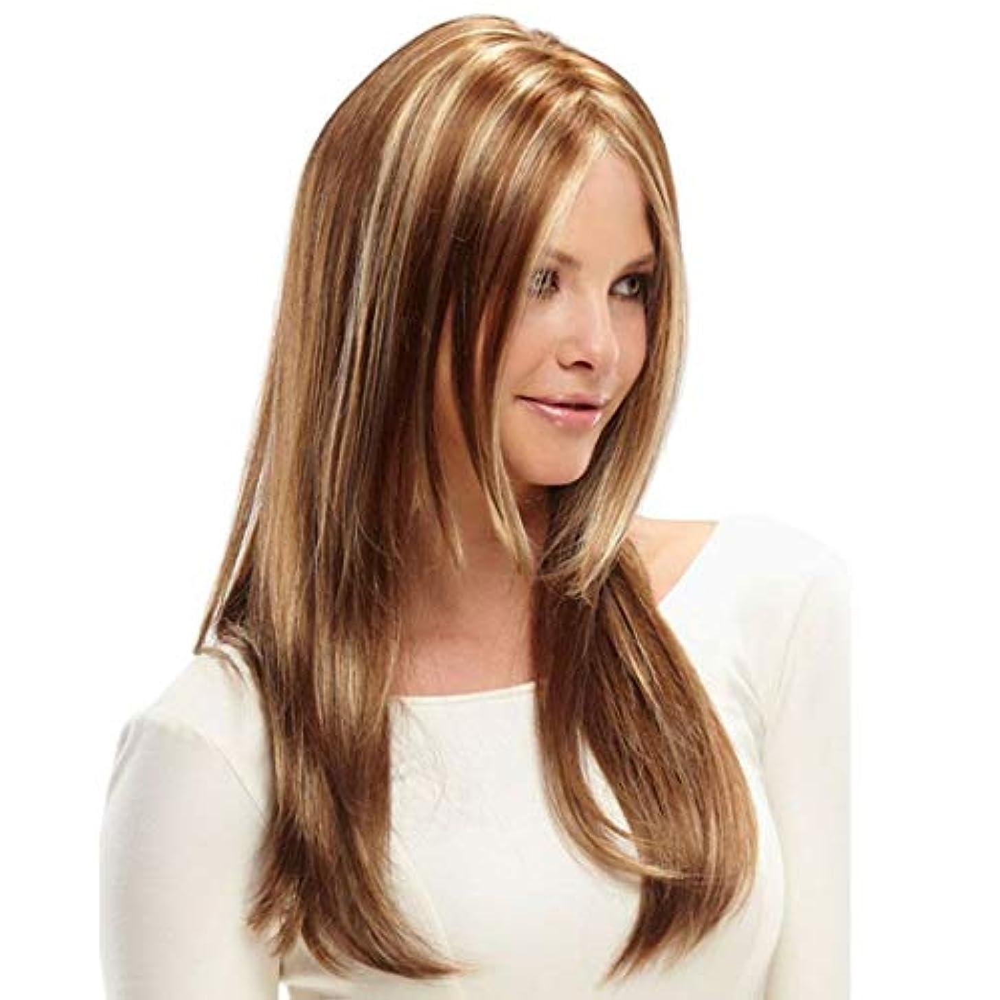 のぞき穴サーバントフランクワースリーKerwinner 女性のための合成かつら自然に見える長い波状別れ耐熱交換かつら