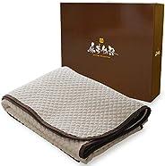 麻夢物語 敷きパッド 麻を使った天然素材の快適な肌觸り 100×205cm シングル 水洗い 通気性 敷きシーツ