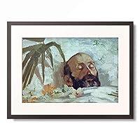 ジョヴァンニ・セガンティーニ Giovanni Segantini 「Ritratto di un morto (Bildnis eines Toten), 1884/86.」 額装アート作品