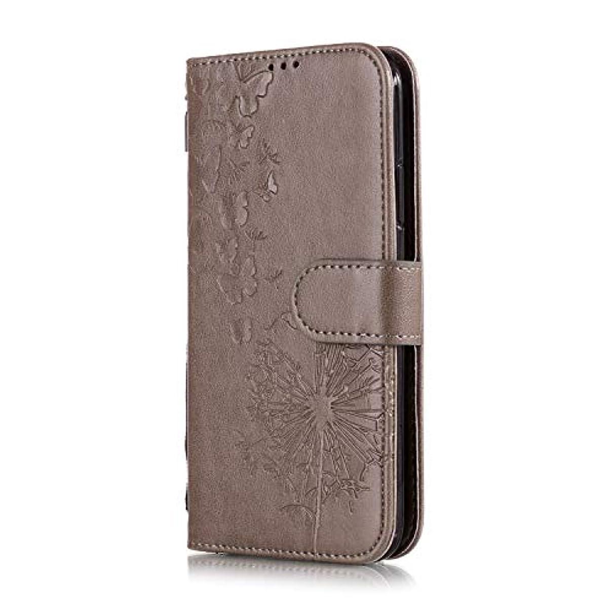 表面書店監督するiPhone6 & iPhone6S たんぽぽ、ブラウン ケース 超薄 超軽量 手帳型 革 スマホケース アイフォンケース 高品質レザーPU 耐衝撃 おしゃれ 財布型 カード収納