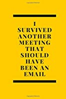 I Survived Another Meeting that Should Have Been an Email : Blank & Lined Notebook: Notebook,journal , (120 Pages, 6×9 inch ) , writing notes, soft cover , journal gift birthday, new year, Humor Journal, Gag Gift