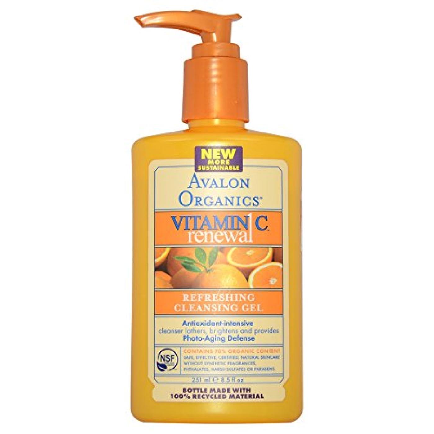 オリエンタル狂った一目Avalon Organics ビタミンC リニューアル リフレッシング クレンジングジェル 8.5 fl oz (251 ml) [並行輸入品]