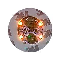 バラエティ本舗 LED 光る ボトル コースター ステッカー 6cm (イエロー)