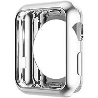 HOCO コンパチブル Apple Watch ケース アップルウォッチ カバー メッキ TPU 保護ケース 耐衝撃性 超簿 脱着簡単 Apple Watch Series 3 / 2に対応 全4色 シルバー 42mm