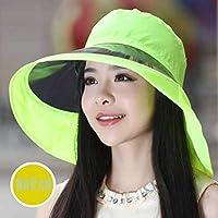 SSBYレディース夏の日曜日の帽子反紫外線言われた帽子Ms夏のつばの帽子屋外方法帽子。グリーン
