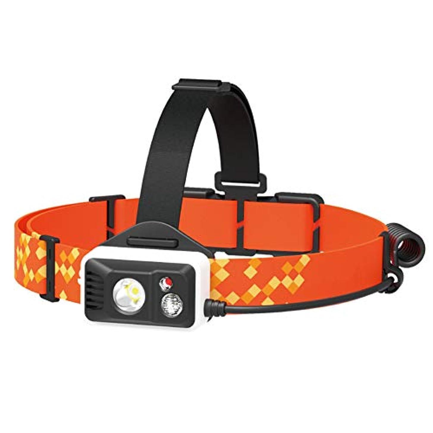 モディッシュ排除する道徳MIC LEDヘッドライト USB充電式ヘッドランプ IPX6防水 高輝度380ルーメン 放熱付き アウトドア/ランニング/登山/夜釣り/自転車/防災/作業用