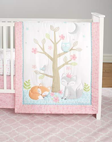 Cuddletime Enchanted Forest 5-Piece Bedding Set, Pink