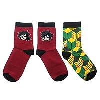 Demon Slayer Kimetsu no Yaiba Socks Animation Character Cartoon Original Socks Novelty Casual Design Colorful Socks