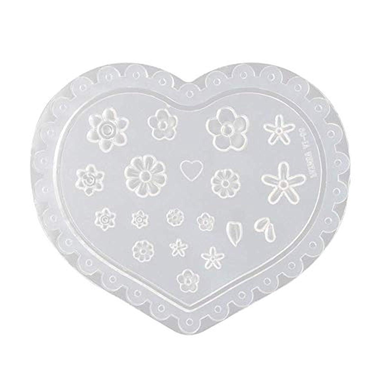 妊娠した十分な気難しいgundoop 3Dシリコンモールド ネイル 葉 花 抜き型 3Dネイル用 レジンモールド UVレジン ネイルパーツ ジェル ネイル セット アクセサリー パーツ 作成 (1)