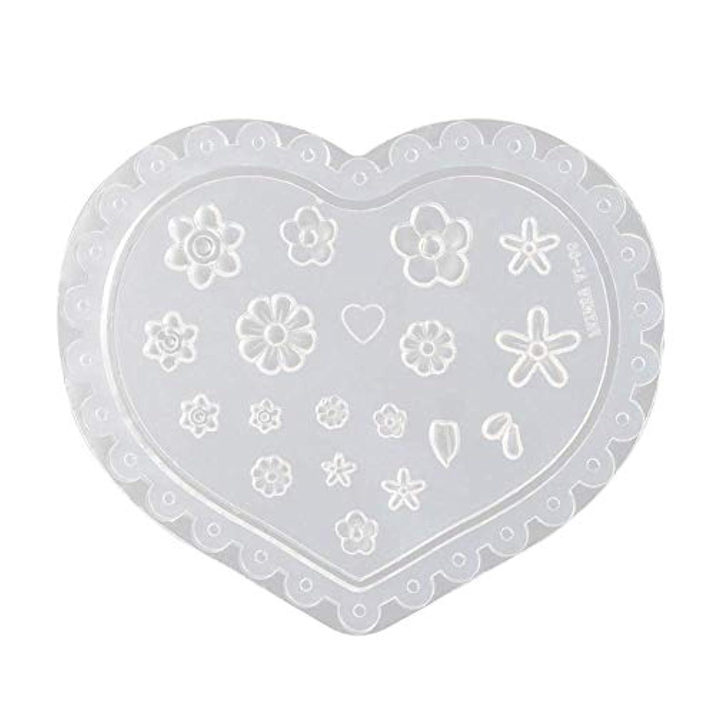 ピンクバンドルゆでるcoraly 3Dシリコンモールド ネイル 葉 花 抜き型 3Dネイル用 レジンモールド UVレジン ネイルパーツ ジェル ネイル セット アクセサリー パーツ 作成 (1)
